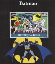 BATMAN DC CLASSIC COMIC BOOK IMAGES TCHAD 2016 MNH STAMP SHEETLET