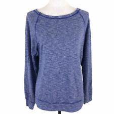 THE NORTH FACE TNF Womens Hallina Shirt Cotton Jersey Raglan Sleeve Blue Heather