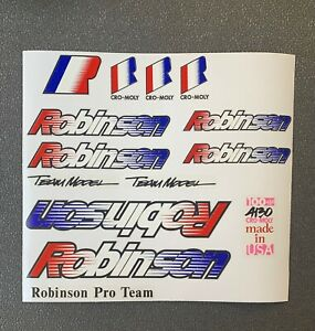 ROBINSON Pro Team Model Frame & Fork set on Clear, Also available  w/Chrome OL