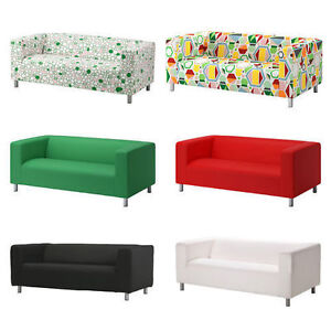 Two Seater Ikea KLIPPAN Sofa Slipcover Replacement Cover,8 Colours,Cover ONLY