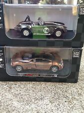 New Ray City Cruiser Shelby Cobra 427 S/C & Audi Avus Quattro 1:32 Scale die cas