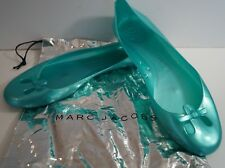 MARC JACOBS Womens Mint Green Jelly Flat Ballerina Shoes EU40 UK7 With Shoe Bag