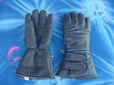 MOTORCYCLE LEATHER GAUNTLET GLOVES,3M THINSULATE LINER,XS,WATERPROOF,SNOWMOBILE