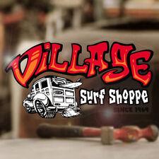 """Village Surf Shop sticker decal hot rod Maui surf surfing Hawaii 5.5"""""""