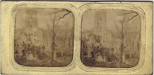 Abbaye de Fountains UK Ruins of Fountains Abbey Stereo Diorama Vintage Albumine