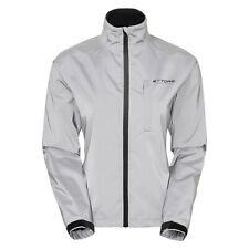 Ettore Ladies Cycling Jacket Waterproof Breathable Reflective Silver Night Glow