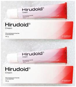 2 X 40 G. FOR SCAR BRUISES VARICOSE VEIN ANTI  HIRUDOID CREAM INFLAMMATION BURN