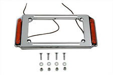 License Plate Frame Chrome with Side Lights For Harley-Davidson