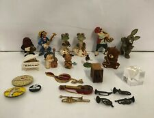 Vintage Lot Music Miniatures Trinkets Buttons Ornaments Figurines Instruments