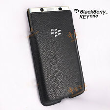 For Blackberry KEYone Case Litchi Pattern Genuine Leather Pouch Bag With Sleep