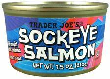 6 x Pack Trader Joe's SOCKEYE SALMON Wild Caught 7.5 oz Can
