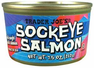 12 x Pack Trader Joe's SOCKEYE SALMON Wild Caught 7.5 oz Can