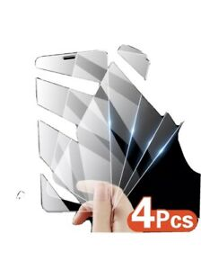 For iPhone 12 11 Pro Max XR X XS Max 8 7 Tempered GLASS Screen Protector 4-PACK