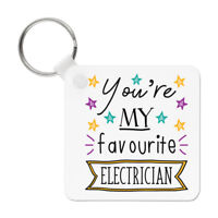 You're My Favourite Electrician Stars Keyring Key Chain - Funny Best