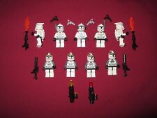 LEGO Star Wars Minifigure LOT Clone Commander, Bombers ,Jetpack Weapons ETC