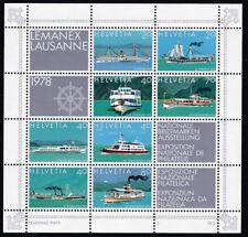 Lemanex Lausanne 1978 Block Postfrisch ** MNH