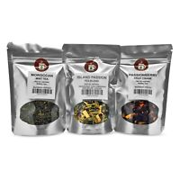 Moroccan Mint, Island Passion, Passionberry Fruit Tea Pack served ICED or HOT