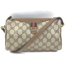 Gucci Shoulder Bag  Light Brown PVC 913872