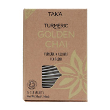 TAKA TURMERIC GOLDEN CHAI 15 TEA SACHETS