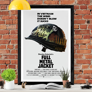 Full Metal Jacket Stanley Kubrick Action Movie Poster Print