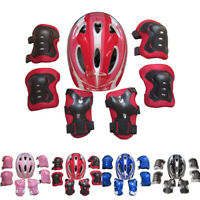 7Pcs Boys & Girls Kids Roller Skating Cycling Bike Safety Helmet Knee Elbow Pad