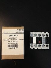 AEG Mini Relay, SH05.40-A, Coil Voltage 110-120 Volt 50/60HZ AC
