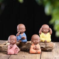 lovely monk small size statue yixing zisha tea pet handmade tea play Zen style