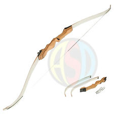 Womens Archery Wooden Recurve Take Down Complete Bow Pack Set - Left Handed