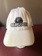 QUICKSILVER White Hat/Cap Embroidered LOGO & Quicksilver Flex fit -Pre-owned