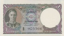 More details for p34 ceylon one rupee banknote in mint condition dated 1949