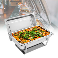 1 Pack Full Size Chafing Dish 8 Quart Stainless Steel Rectangular Chafer Buffet