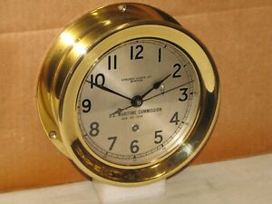 "CHELSEA U.S.NAVY SHIPS CLOCK~6"" DIAL~1942~WW-2 LIBERTY SHIP~RESTORED"