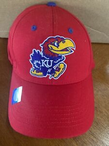Kansas Jayhawks NCAA Baseball Cap Hat Adjustable New NWT