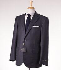 NWT $1975 CORNELIANI 'Leader' Medium Gray Stripe Wool Suit 42 R (Eu 52)