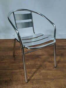 New Commercial Grade Aluminium Stacking Garden Patio Outdoor Chairs Cafe Bistro