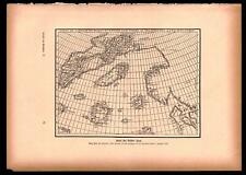 Antique map. World Map By Brother Zeno. H. Kraemer. 1900