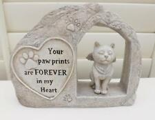 MEMORIAL PLAQUE for CAT POLY- RESIN STONE EFFECT with words