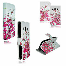 Flower Leather Soft TPU Full Cover Case Stand Skin For Samsung Galaxy Ace 4 G357