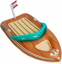 Giant Inflatable Boat Pool Float with Reinforced Cooler, Summer Pool Party