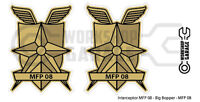 New! Mad Max MFP MAIN FORCE DECAL STICKER - TWIN SET - MFP 08 - Interceptor