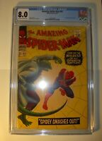 Amazing Spider-Man #45 CGC 8.0, VF,1967, Silver Age Lizard app., John Romita art