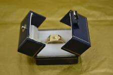 Mans 9 CT Oro SIGNET RING DIAMOND Set marchiato TANDY & SONS CHESTER 1951