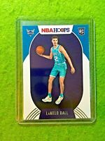 LAMELO BALL HOOPS ROOKIE CARD JERSEY #1 HORNETS RC 2020-21 Panini Hoops  TRUE RC