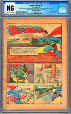 ACTION COMICS #14 CGC -NG- JERRY SIEGEL BOB KANE COVERLESS / INCOMPLETE 1939