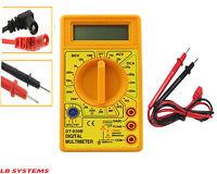 DIGITAL LCD VOLTMETER MULTIMETER CIRCUIT TESTER AMMETER AC DC METER OHM YELLOW