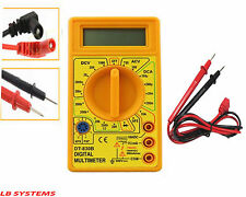 Comprobador De Circuito Multímetro Digital LCD Voltímetro Amperímetro Medidor AC DC Ohm Amarillo