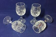 Vintage Top Quality Set of 4 Cut Lead Crystal Small Drinking Glasses