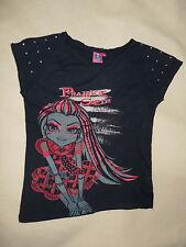 T-shirt noir Monster High Frankie Stein manches courtes 14 ans TBE
