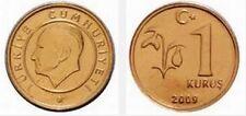 TURKEY 1 KURUS UNC COIN # 2129