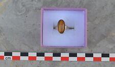 Bague fantaisie pierre fauve, taille 58